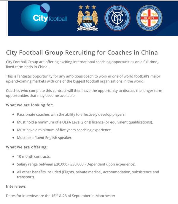city football group cina