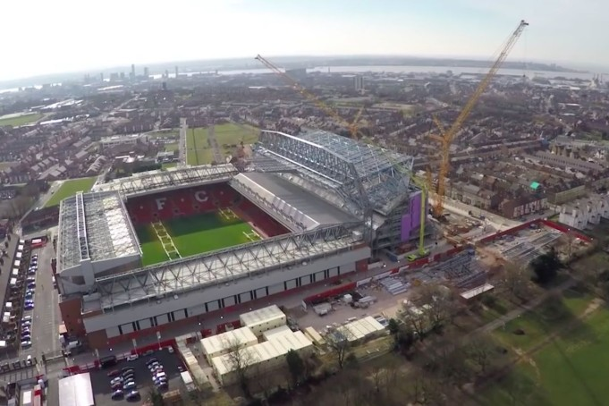 Anfield Road liverpool-manchester united