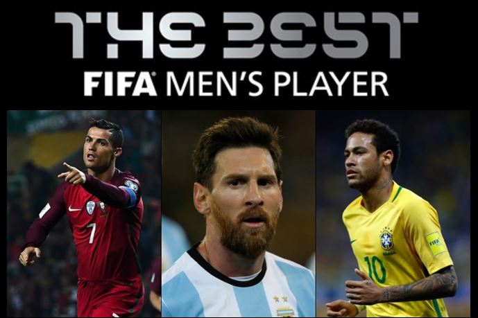 Fifa The Best: Ronaldo, Messi e Neymar i finalisti