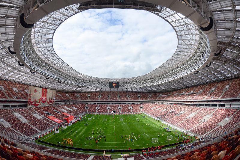 Stadi mondiali Russia 2018- Il Luzhniki Stadium di Mosca (foto: Wikipedia - Government of Moscow Press centre)