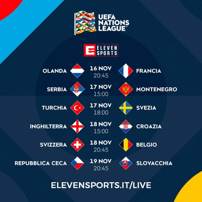 partite UEFA Nations League Eleven Sports