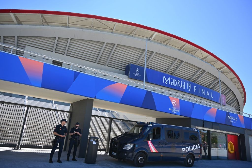 L'esterno del Wanda Metropolitano ((Photo by GABRIEL BOUYS / AFP) (Photo GABRIEL BOUYS/AFP/Getty Images)