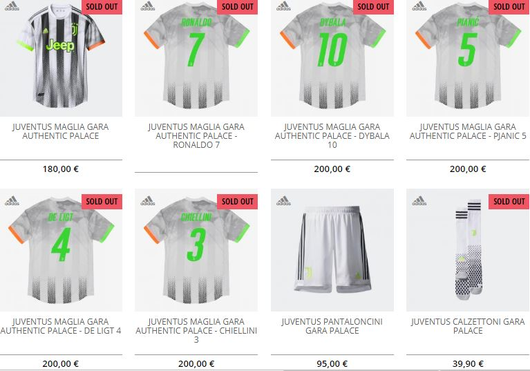Juventus, sold out sullo store online le maglie firmate Palace ...