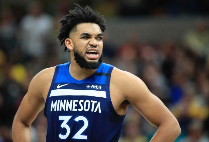 Karl Anthony-Towns dei Minnesota Timberwolves (Photo by Andy Lyons/Getty Images)
