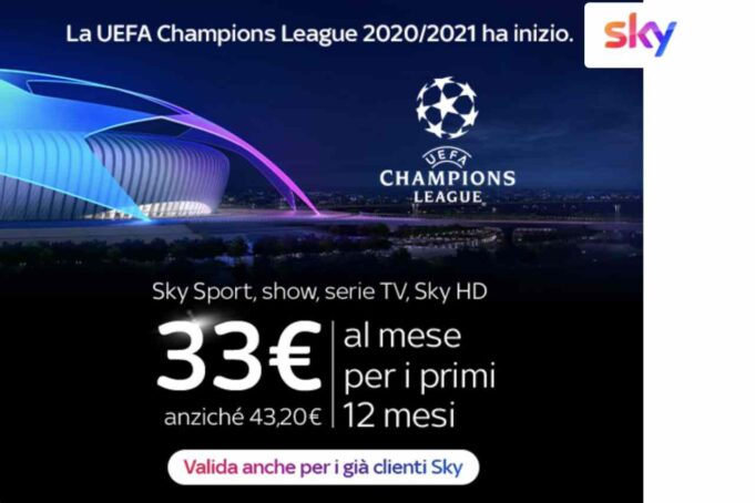 Sky sconto Champions League